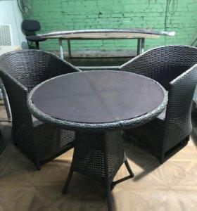 Комплект плетёной мебели