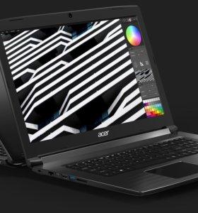Новый. Игровой ноутбук Acer на i7-7700HQ и 1050ti