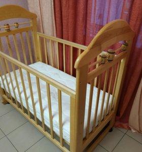 Кроватка детская + матрас Plitex Bamboo