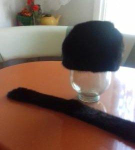 норковый берет и норковая шапка