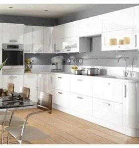Кухня белый перламутр