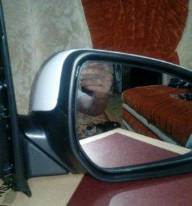 Боковое новое зеркало правое на кио рио 3