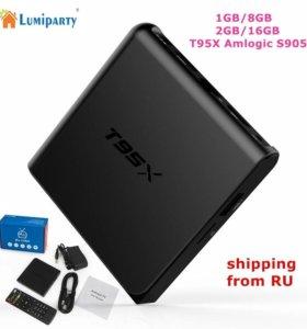 Приставка андроид ТВ T95X S905X