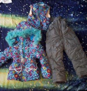Продам зимний костюм на рост 80-90см
