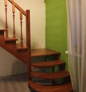 Комплект лестницы из массива дерева