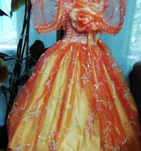 Платье-персиковое ! Детское