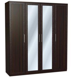 Шкаф 4х дверный 197 см, зеркало