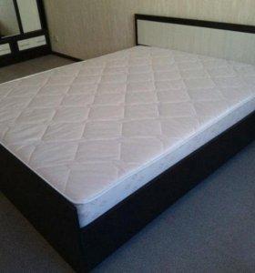 Кровать с матрасом 2 двуспальная