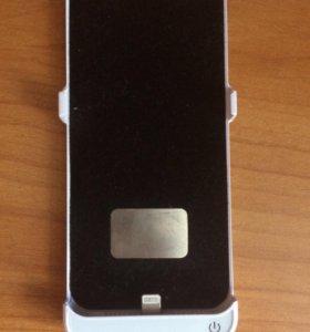 Чехол-батарея для Apple iPhone 5/5s белый.