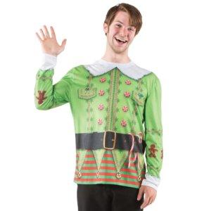 Faux Real Shirt, футболка Эльф Рождества, новая