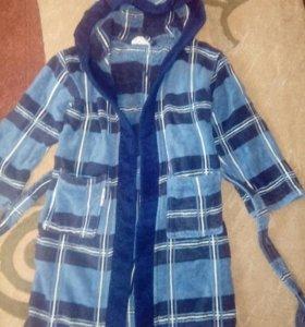 Детский махровый халат на 4-7 лет