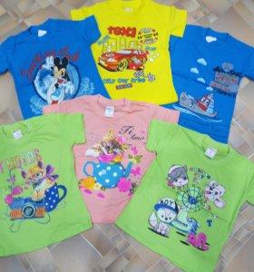 Новые футболки детские от 1-3 года