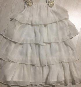 Платье белое р.1/2года