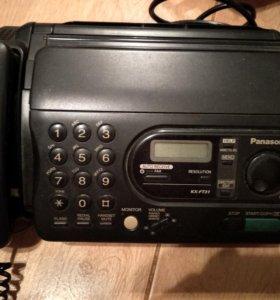 Факс телефон panasonic kx-ft31
