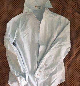 Рубашка Белая с синей полоской