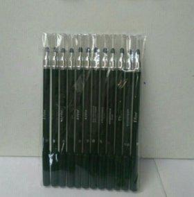 Чёрные карандаши с растушевкой
