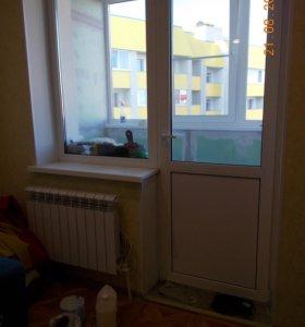 Балконный блок с глухим окном.