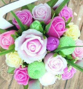 Цветы из мыло