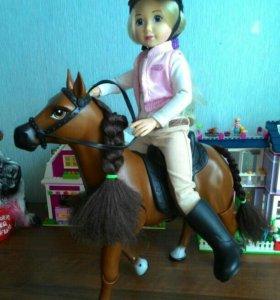 Кукла Полина на лошадке