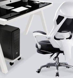 Компьютерное кресло с подножкой ! Яркий дизайн!