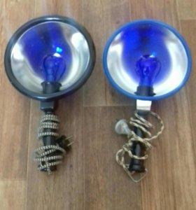 Лампа синяя греющая.