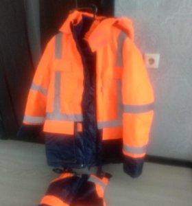 Куртка утеплённая с комбинезоном(новый)