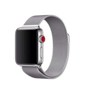 Миланская петля (серая) для Apple Watch 43 mm ⌚️