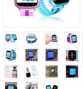 Часы умные Q750 новые с магнитной зарядкой.