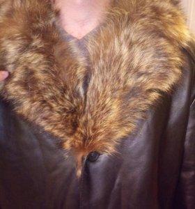 Кожаная куртка с мехом 54-56