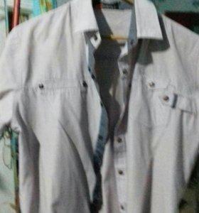 Рубашка светло фиалетовая