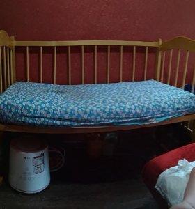 Кроватка с НОВЫМ матрасом
