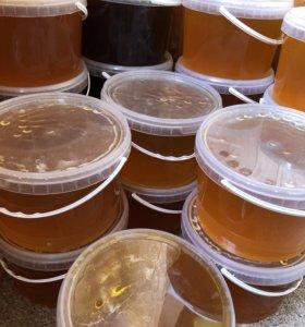 Мёд разнотравье, гречишный 2018! 3л (4,5кг)