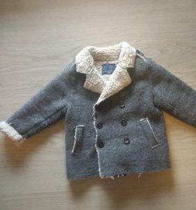 Пальто зара рост 92-98