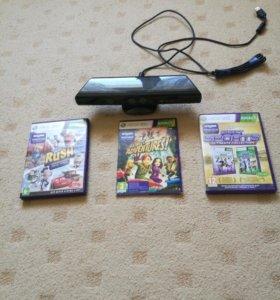 Kinect xbox 360 + 3 игры