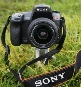 Sony Alpha DSLR-A550 double kit