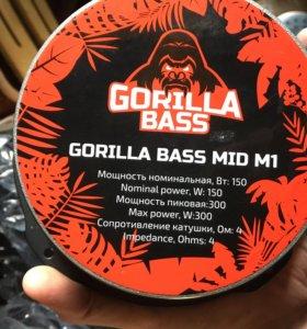 Колонки KICX gorilla bass mid m1