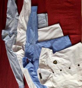 Продам 4 рубашки б/у для ребёнка 1-2 класса