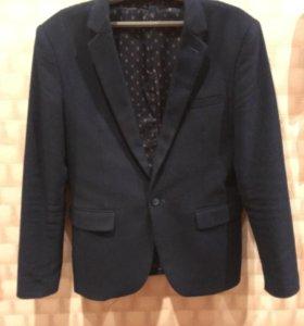пиджак мужской темно-синий
