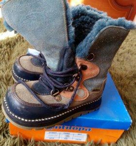 Ботинки 26р, зимние, полностью натуральные.
