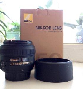 Объектив Nikon AF-S Nikkor 50mm 1:1,4 G