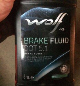 Тормозная жидкость Wolf DOT 5.1
