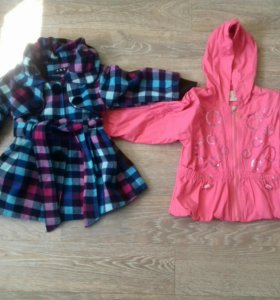 Пальто и куртка на девочку