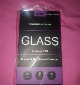 Защитное стекло ainy Iphone 5/5c/5s