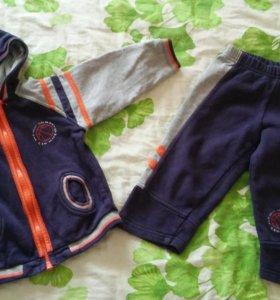 Утепленный спортивный костюм для мальчика р.86-92