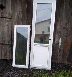 Пластиковые окно и дверь