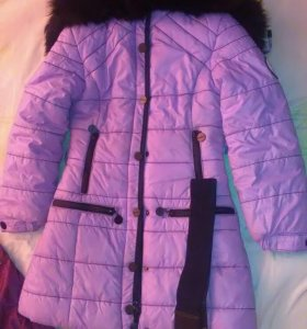 Зимнее пальто для девочки.