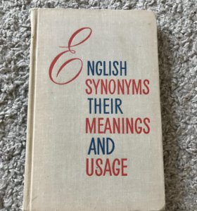 Пособие по синонимике английского языка