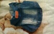 Стильная джинсовая куртка для собачки,малых пород.