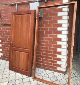 Б/у входная дверь. Коробка 204×101. Дверь 198×94.5