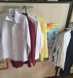Рубашки школьные разного размера ( 1-2 класс)